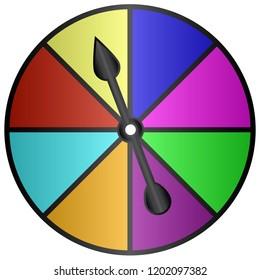 Board Game Color Spinner Vector Illustration Symbol