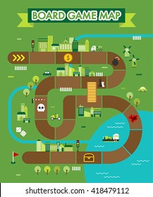 board game map vector illustration