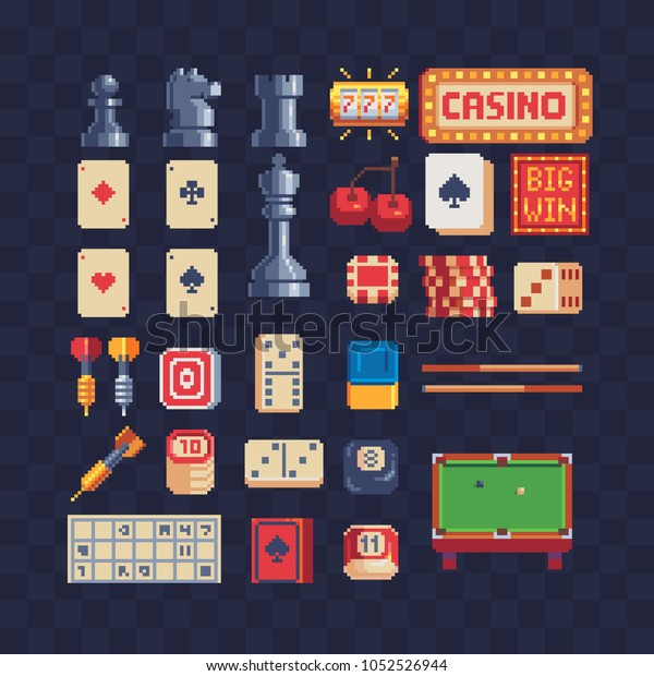 Board Game Pixel Art 80s Style Stock Vector (Royalty Free ...
