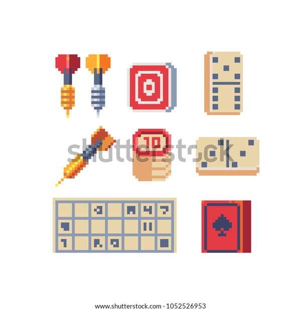 Board Game Pixel Art 80s Style Stock Vector Royalty Free