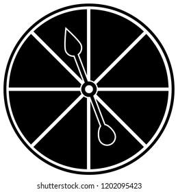 Board Game Spinner Vector Illustration Symbol