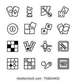board game vector icon set