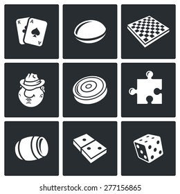 Board games icons. Vector Illustration.