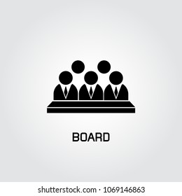 board icon, group of business people