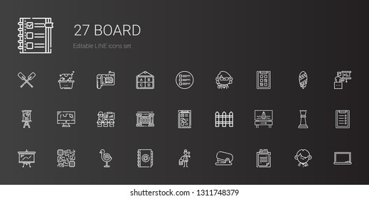 Document Icons Set Collection Document Suitcase Stock Vector