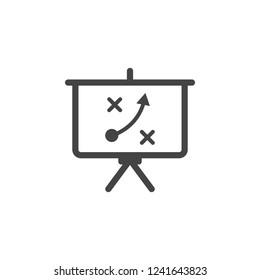 board, plan icon. Element of business plannin icon. Glyph icon for website design and development, app development. Premium icon