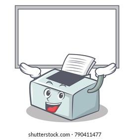 Up board printer character cartoon style