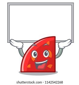 Up board quadrant character cartoon style