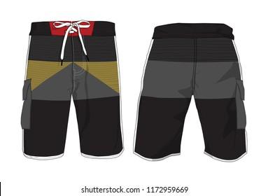 Board Shorts Template