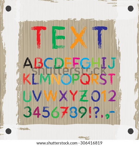 Board Text Images Font Alphabet Letters Stock Vector Royalty Free