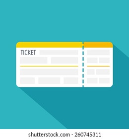 Boarding pass ticket icon. Flat design. Vector illustration