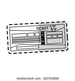 boarding pass or ticket icon image