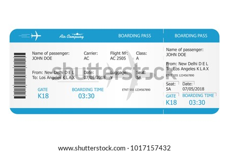 boarding pass ticket template airplane ticket のベクター画像素材