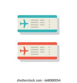 Boarding pass, Vector illustration.