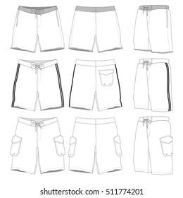 Boardshorts vector illustration templates
