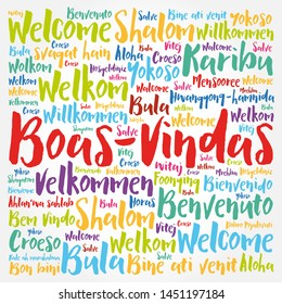 Boas-Vindas (Welcome in Brazilian Portuguese) word cloud in different languages