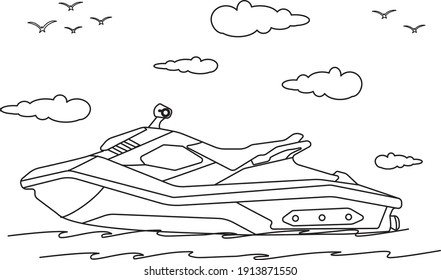 Boat Coloring Book for Children