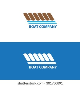 Boat company logo design rope blue brown color