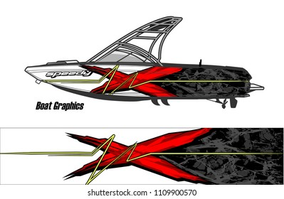 boat decal graphic vector for vehicle vinyl wrap