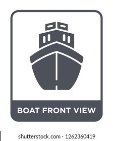 boat front view icon vector on white background, boat front view trendy filled icons from Transportation collection, boat front view simple element illustration
