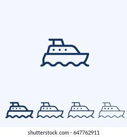 Boat icon  sign symbol line icon