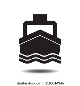 Boat icon vector or Ship by sea icon flat sign symbols logo illustration isolated on white background.Concept for Transport and Tourism.