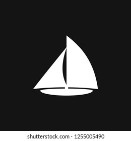 Boat icon vector in trendy flat style isolated on background. Ship transport, boat symbol