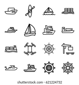 c06a2c4f447 Boat icons set. set of 16 boat outline icons such as boat