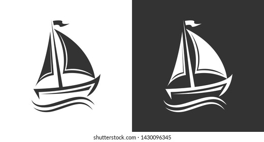 Boat Illustration Symbol Icon Vector