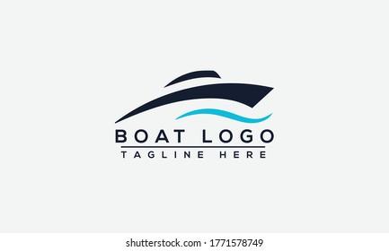 Boat Logo Design Template Vector Graphic Branding Element.