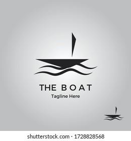 The Boat Logo Design Template-sail boat/nautical design logo.