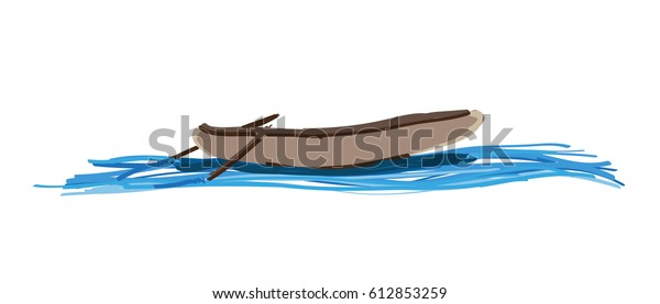 boat on river vector drawing stock vector royalty free 612853259 shutterstock