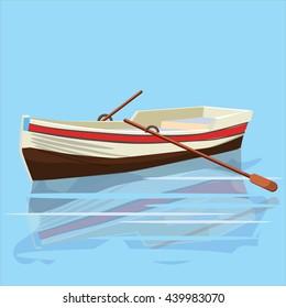 Boat, paddle, banner, vector illustration