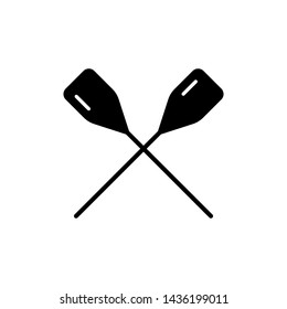 Boat paddle icon. New trendy boat paddle vector illustration symbol