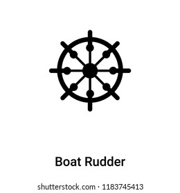Boat Rudder icon vector isolated on white background, logo concept of Boat Rudder sign on transparent background, filled black symbol