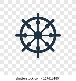 Boat Rudder vector icon isolated on transparent background, Boat Rudder transparency logo concept