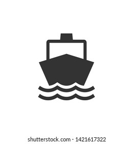 Boat, sail, sailing, ship, yacht icon. Vector illustration, flat design.