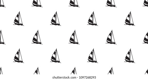boat sailboat seamless pattern yacht anchor helm lighthouse vector maritime Nautical tropical isolated background wallpaper