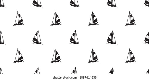 boat sailboat seamless pattern yacht anchor helm lighthouse vector Nautical maritime tropical isolated background wallpaper