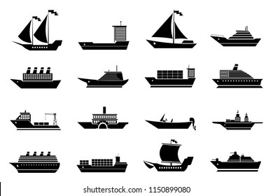 Boat and Ship Icons Collection