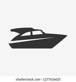 boat silhouette, vector icon.