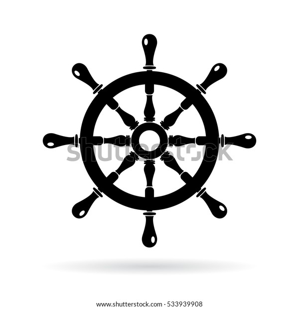 boat steering wheel vector icon on stock vector royalty free 533939908 https www shutterstock com image vector boat steering wheel vector icon on 533939908