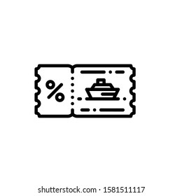 Boat Ticket Icon Outline Vector. Holiday Sale Icons. Online Shop Ikon.