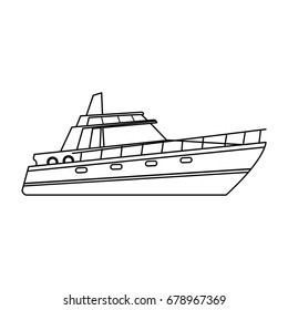 boat tourist yacht to travel by sea transport
