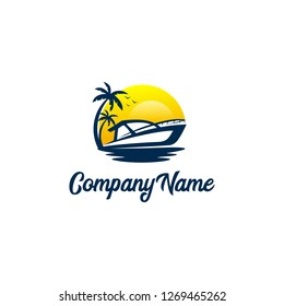 Boat travel logo