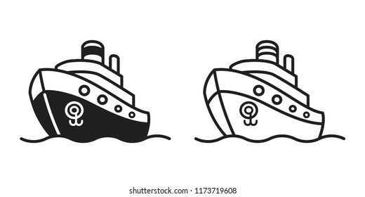 boat vector logo icon sailboat pirate yacht cartoon anchor helm nautical maritime wallpaper illustration
