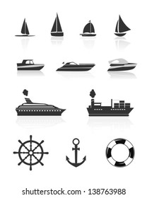Boat and yacht icons