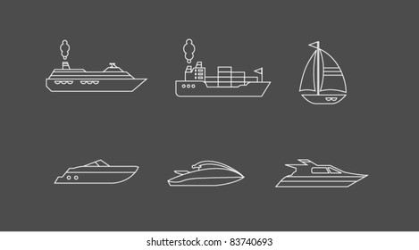 Boats icons