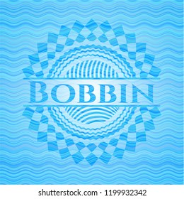 Bobbin water representation badge.