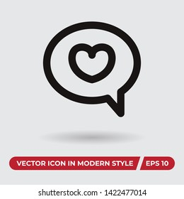 Bobble vector icon in modern style for web site and mobile app